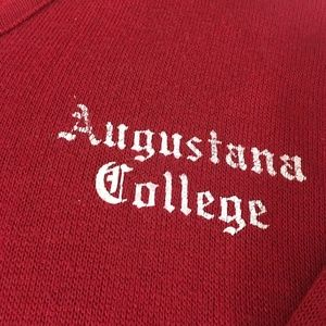 Augustana College Sweaters - Augustana College Red Long Sleeve Vneck Sweater